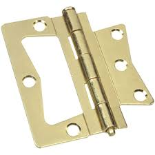Decorative Hinges Home Depot Stanley National Hardware 3 1 2 In Bright Brass Non Mortise Hinge