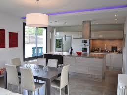 cuisine salon deco salon ouvert sur cuisine idées décoration intérieure