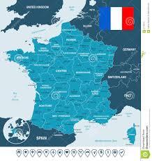 Strasbourg France Map by France Map Flag And Navigation Labels Illustration Stock
