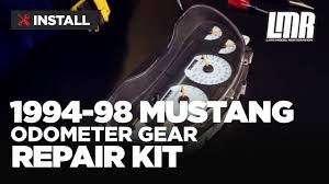 1994 98 mustang odometer gear repair fix kit install youtube
