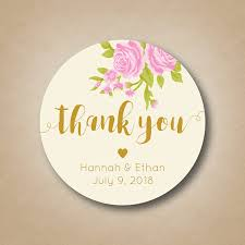 wedding tags wedding thank you stickers wedding favor stickers blush pink