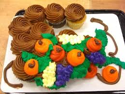 thanksgiving cupcake cakes pin thanksgiving cornucopia cupcakes
