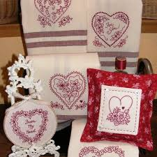 Machine Embroidery Designs For Kitchen Towels by 6 Hand Embroidery Heart Designs For Valentine Tea Towels