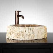 taolan petrified wood vessel sink bathroom