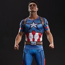 captain america compression shirt u2013 novelty force