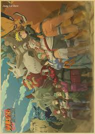 Naruto World Map by Retro Vintage Naruto Uzumaki U0027s Full Color Wall Poster