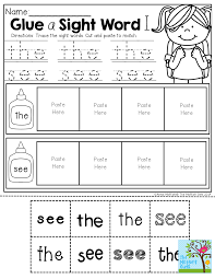 glue a sight word and tons of other fun activities for back to