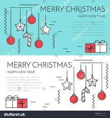 horizontal banner gifts decorations flat stock vector