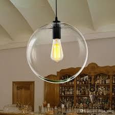 Discount Modern Nordic Lustre Globe Pendant Lights Glass Ball Lamp