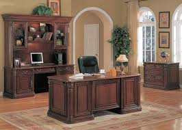 Solid Wood Office Desks Traditional Executive Office Decor Executive Desk Cherry Solid