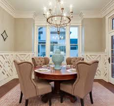 Dining Rooms With Wainscoting Furniture Divine Dining Room Decoration Using Oval Solid Red