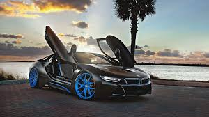 Bmw I8 Blacked Out - black concep car bmw i8 blue wheels simply wallpaper just