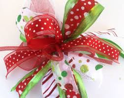 christmas gift bow whimsical bows etsy