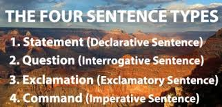 sentence types learn all four
