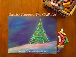 glowing christmas tree chalk art tutorial hodgepodge