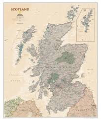 World Map Scotland by Scotland Wall Map Executive Westeurope Countries Europe Wall