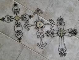 ornate celtic crosses home decor 3 large metal wall crosses