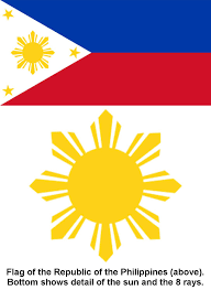 collection sun philippine flag by