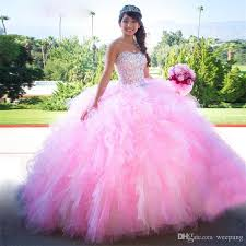 15 quinceanera dresses pink gown ruffles quinceanera dresses sweetheart