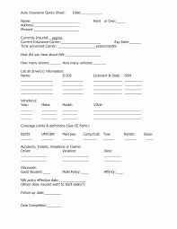 auto insurance forms template awesome auto insurance quote form template luxury minimum coverage auto