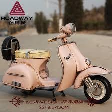 usd 39 17 vespa piaggio retro motorcycle model handmade metal tin