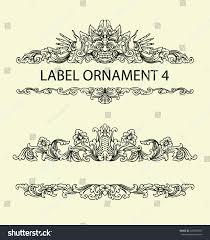 label ornament 4 black floral sketch stock vector 249383587