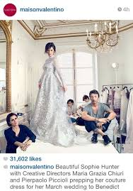 Valentino Wedding Dresses Revealed The Valentino Wedding Gown Sophie Hunter Wore To Marry