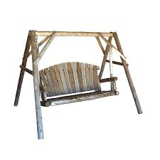 Porch Swings For Sale Lowes by Shop Lakeland Mills Natural Cedar Porch Swing At Lowes Com