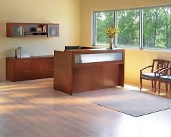 L Shaped Reception Desks Series L Shaped Reception Desk W Lateral Files And Wall Mount