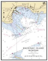 map of mackinac island mackinac island michigan nautical chart νοαα charts maps