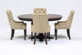 Living Spaces Kitchen Tables by Jefferson 5 Piece Extension Round Dining Set Living Spaces