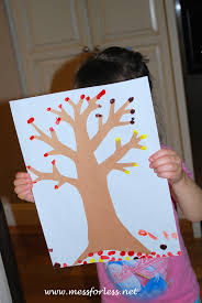 Kid Fall Crafts Q Tip Fall Tree Fall Trees Crafts And Activities