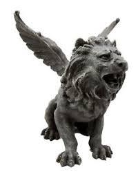 roaring lion statue winged aslan roaring lion battle war cry gargoyle