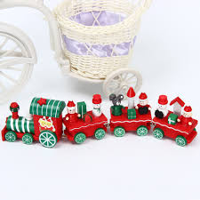 online shop christmas train wooden xmas little train decoration