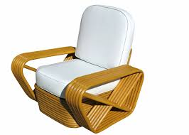 Lounge Chair Dimensions Standard Restored Paul Frankl Style Square Pretzel Rattan Lounge Chair