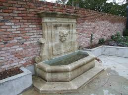 patio water features with garden wall feature pictures brick