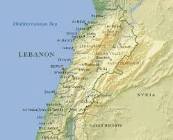 lebanon on the map nitle arab world project