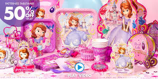 sofia the birthday party a simply unforgetable party shop