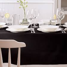 tablecloth for oval dining table sophisticated drama with a black tablecloth