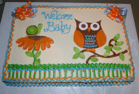 owl baby boy sheet cake the swirl cakes