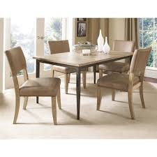 hillsdale charleston 7 piece rectangle desert tan wood dining set