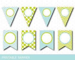 green and min party banner mint birthday banner mint baby shower