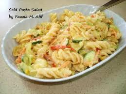 pasta salad recipes cold cold pasta salad fauzia s kitchen fun