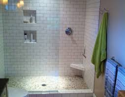 shower stunning walk in shower with seat attractive brown mosaic