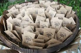 sunflower seed wedding favors 100 customized eco friendly let grow wedding seed favor