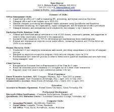 computer skills resume sample u2013 okurgezer co