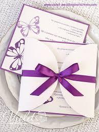 butterfly wedding invitations butterflies wedding invitation violet handmade wedding invitations
