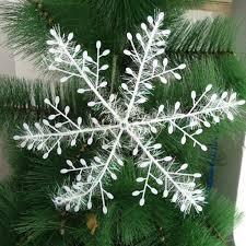 30pcs 11cm plastic snowflakes tree ornaments tree