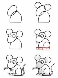 imagenes de ratones faciles para dibujar como dibujar un raton para niños paso a paso inspires me dibujos