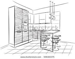 Kitchen Design Sketch Interior Sketch Stock Images Royalty Free Images U0026 Vectors